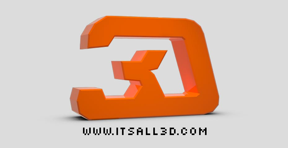 Picture showing the It's All 3D logo, created by STORMYSUNDAY
