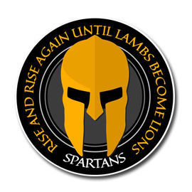 Picture shows the logo for Spartan - Rise created by STORMYSUNDAY
