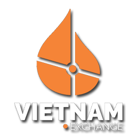 Picture shows the logo for Vietnam Exchange created by STORMYSUNDAY